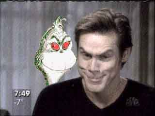 Jim Carrey's GRINCH face! Jim Carrey Grinch Makeup