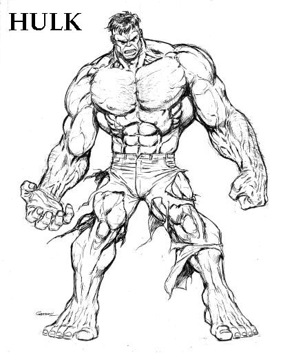 Hulk Face Line Drawing : Drawing pictures incredible hulk