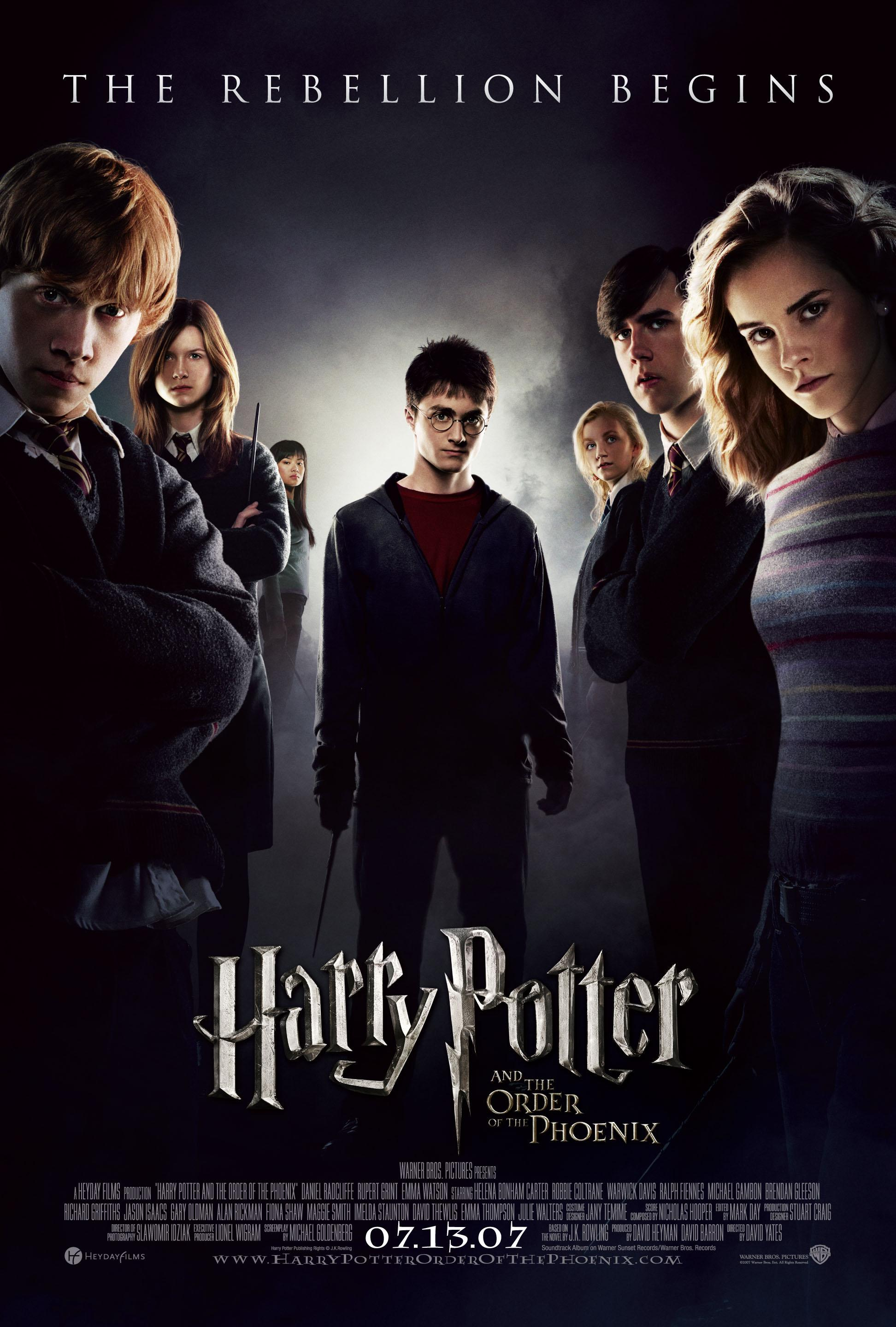 Quint here with the newest and last domestic one sheet for harry potter and the order of the phoenix featuring the members of dumbledore s army not looking
