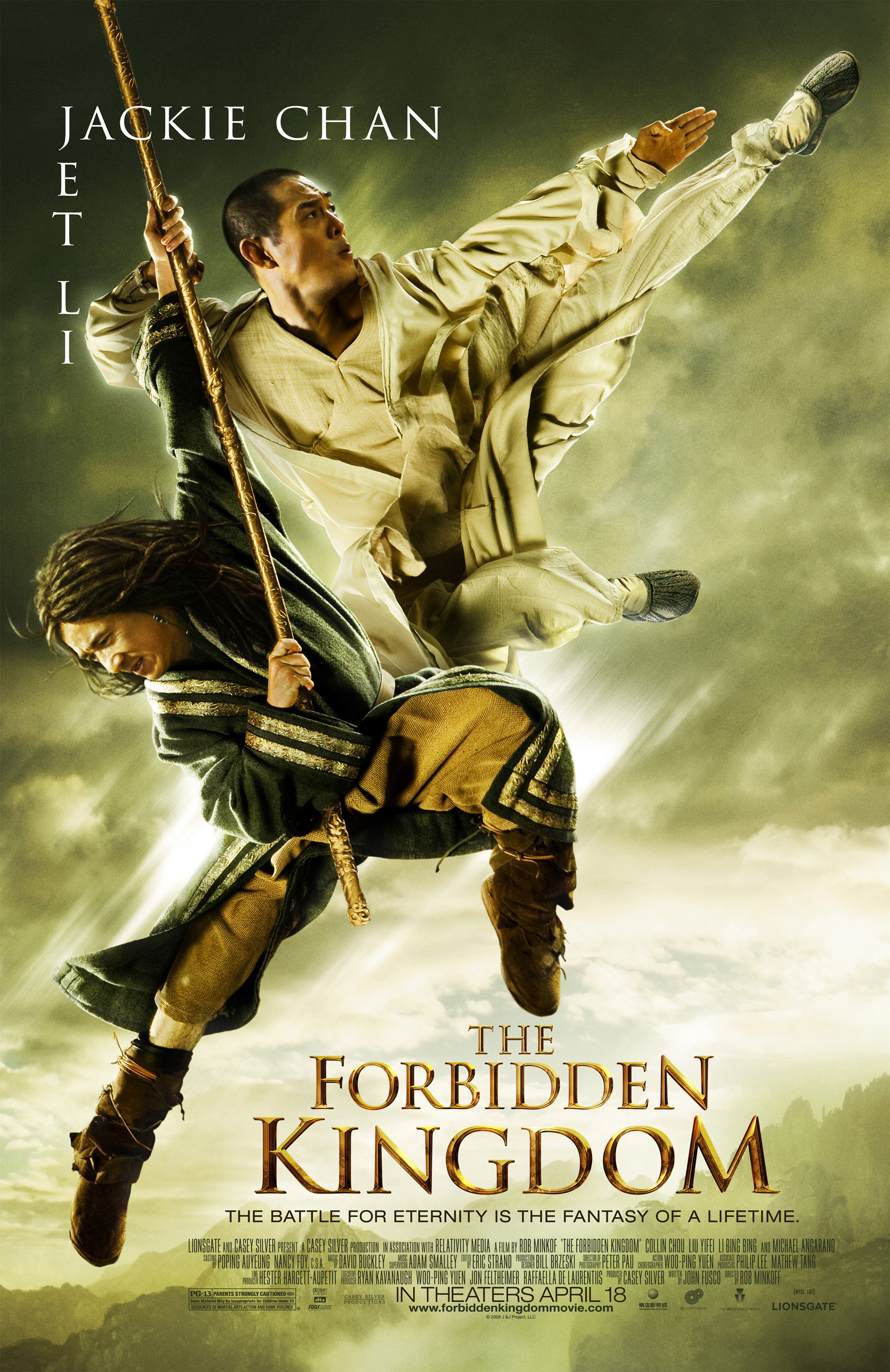AICN Exclusive Poster Debut: THE FORBIDDEN KINGDOM!!