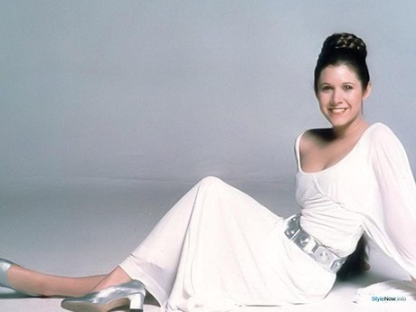 Carrie Fisher STAR WARS promo shot