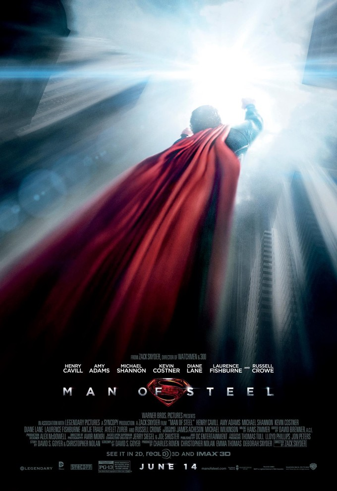 Latest MAN OF STEEL Poster has a need, a need, for speed!
