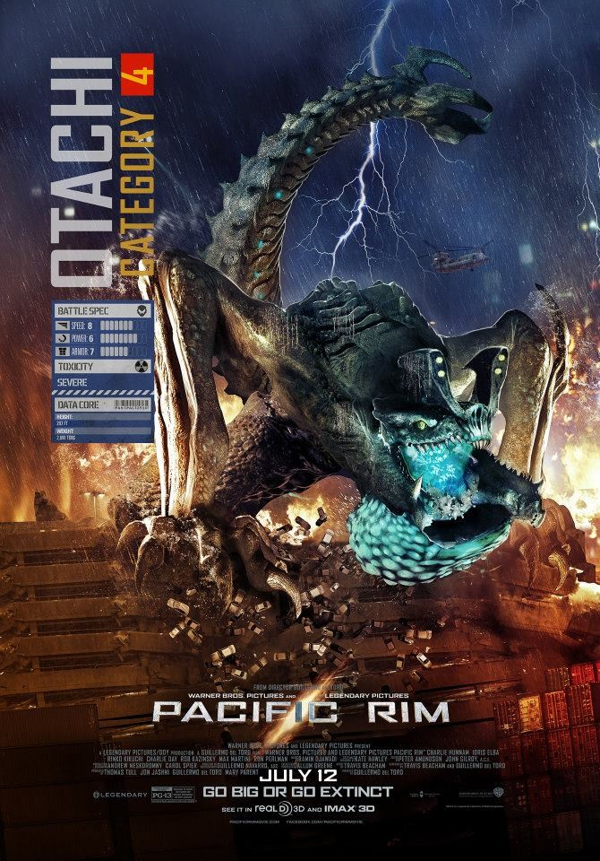 The first Kaiju poster for PACIFIC RIM hits and its Otachi! Pacific Rim Kaiju Category 4