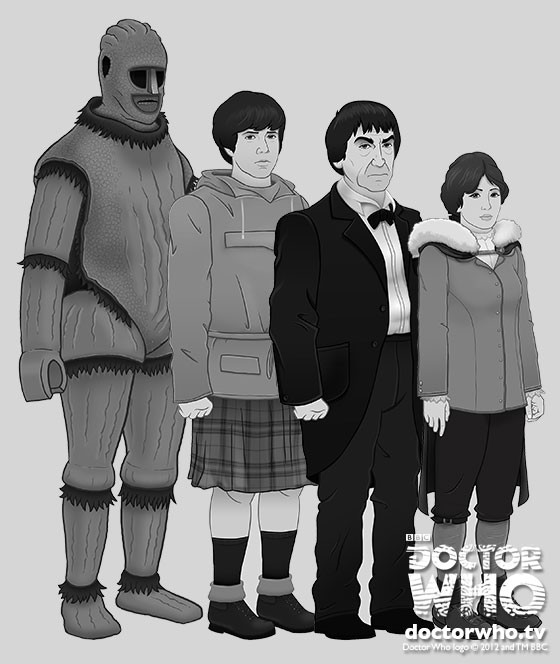 DOCTOR WHO: THe Ice Warriors animated character study 