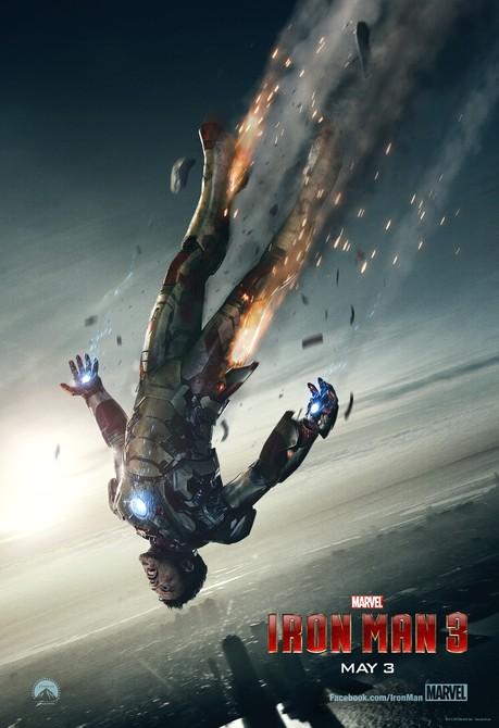 ironman 3 falling poster