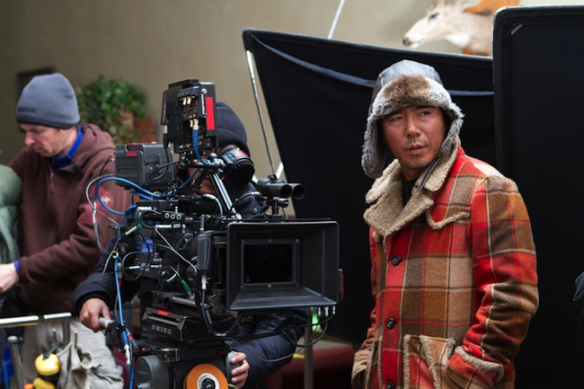Kim Ji-woon directing on the set of THE LAST STAND