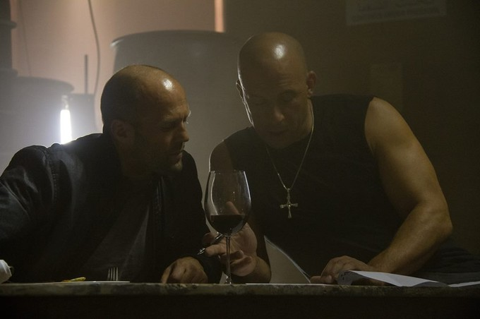 Statham and Diesel on FAST 7