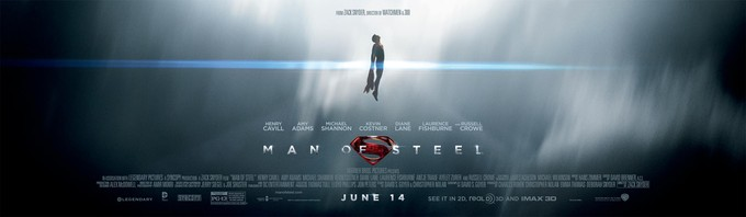 MAN OF STEEL promo banner