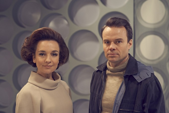 (l-r) Jemma Powell as Jacqueline Hill and Jamie Glover as William Russell