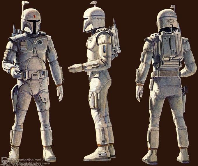 Boba Fett concept art (pre THE EMPIRE STRIKES BACK)