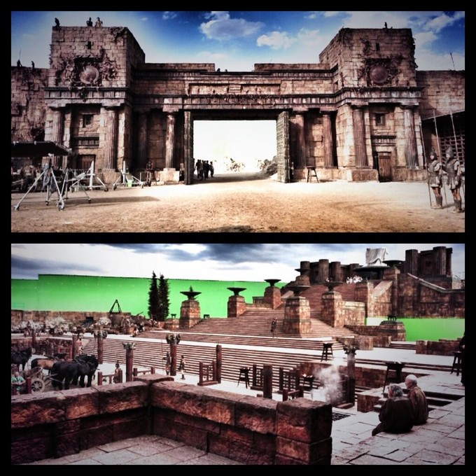 Dwayne Johnson HERCULES movie set images