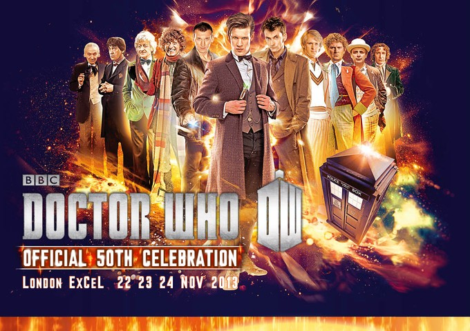 DOCTOR WHO 50th Anniversary Convention art