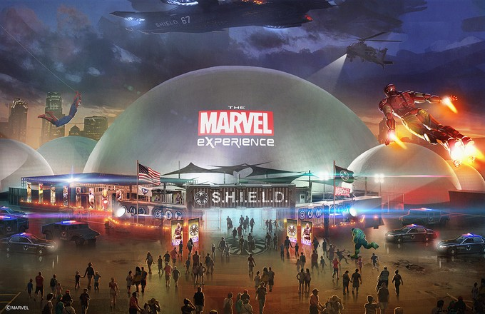 THE MARVEL EXPERIENCE dome concept art