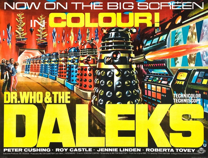 DR. WHO & THE DALEKS movie poster