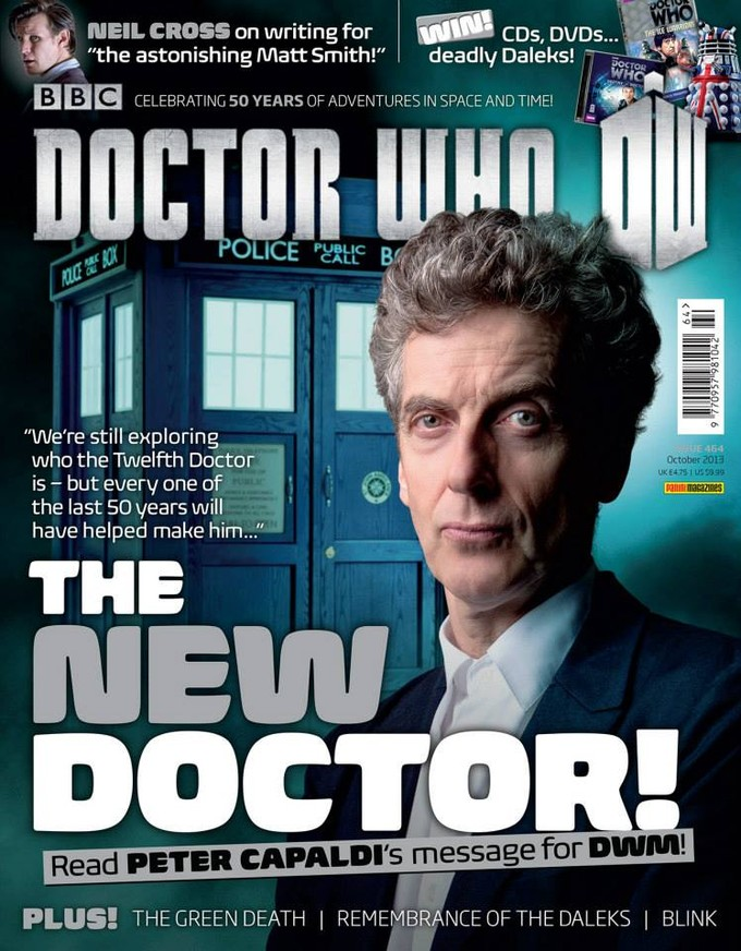 Capaldi on cover of DOCTOR WHO Magazine