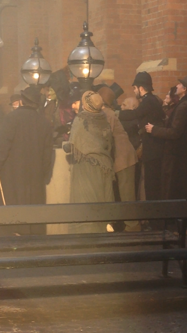 DOCTOR WHO S8E01 filming