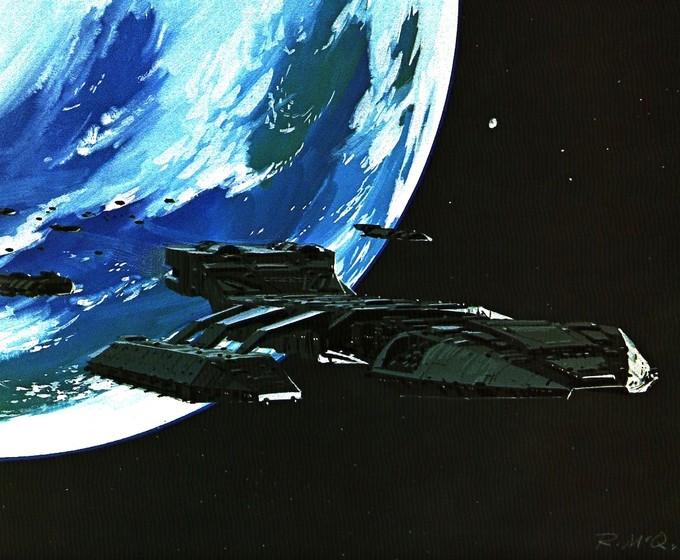 McQuarrie GALACTICA concept art (1978)