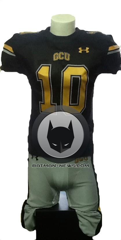 MAN OF STEEL sequel Gotham football jersey