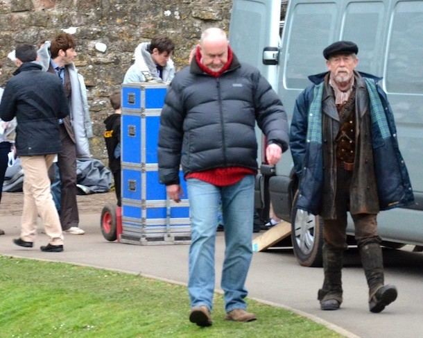 DOCTOR WHO 50th Anniversary ep - John Hurt on-set