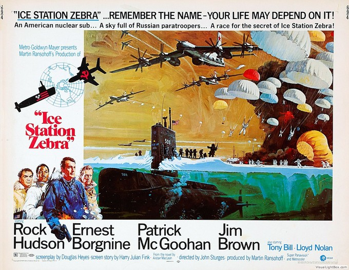 ICE STATION ZEBRA (1968) poster