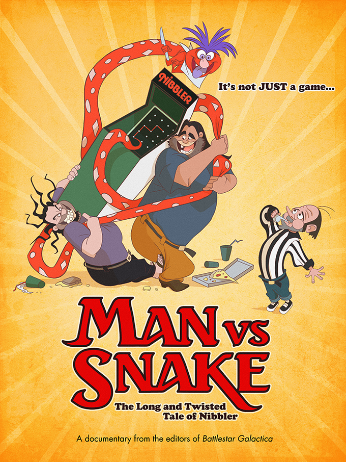 MAN VS SNAKE Don Bluth poster