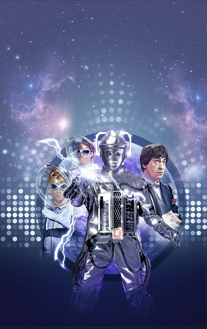 DOCTOR WHO: The Moonbase DVD art