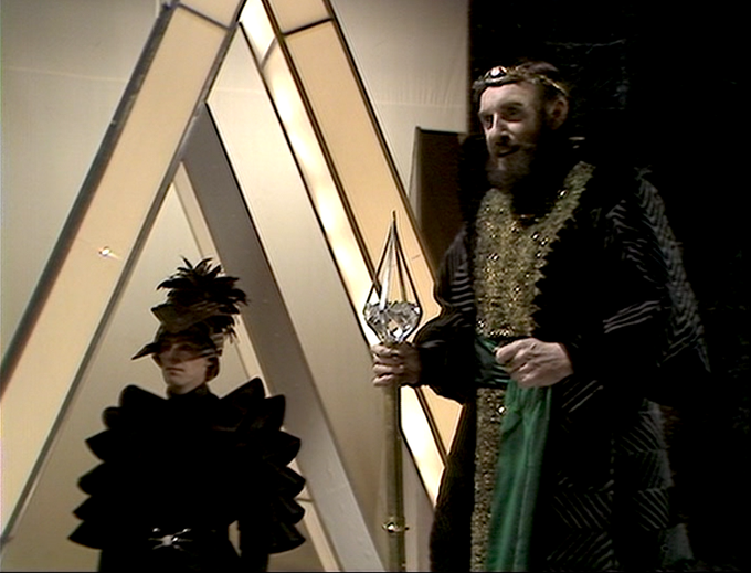 Graham Crowden as Soldeed in DOCTOR WHO: The Horns of Nimon
