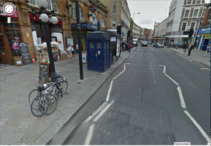 DOCTOR WHO: TARDIS located on Google Maps