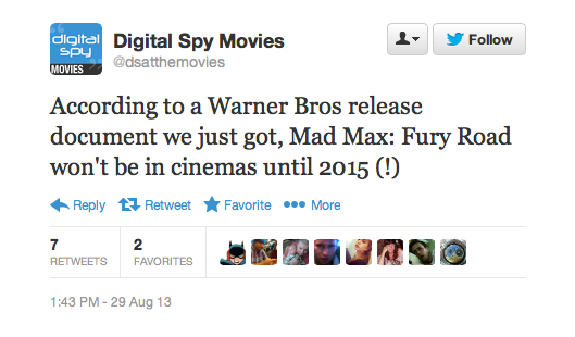 Digital Spy tweet