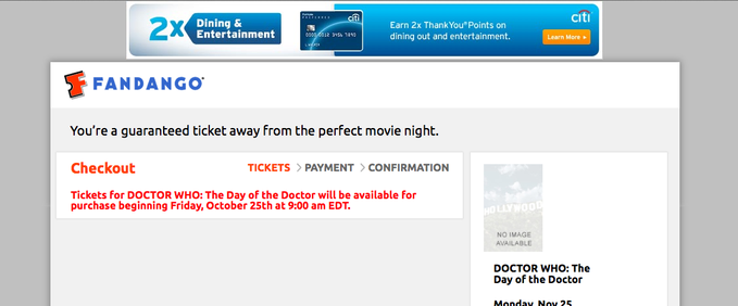 doctor who: day of the doctor screening error