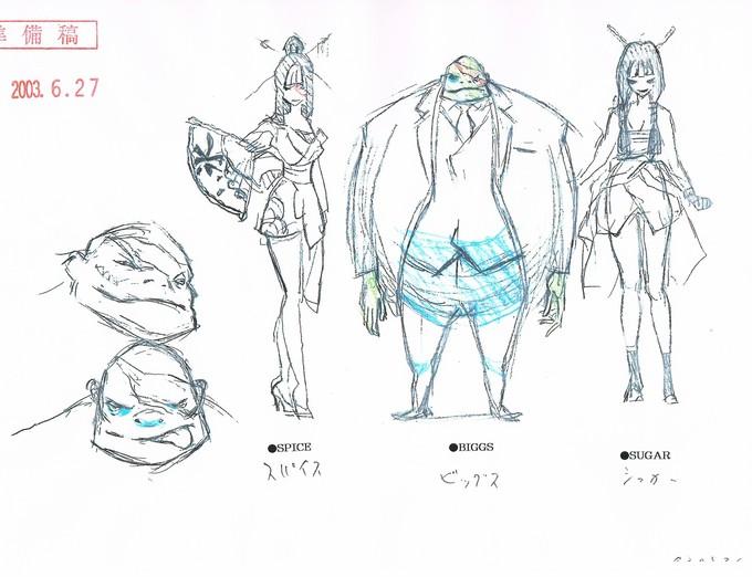 Snake Plissken anime - Biggs, Spice, Sugar