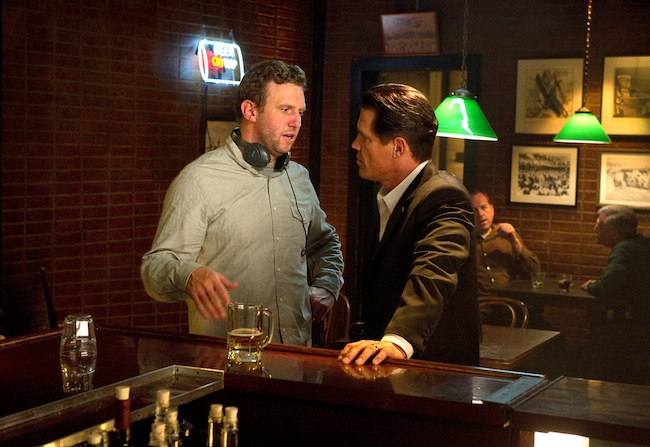 Ruben Fleischer directing Josh Brolin on the set of GANGSTER SQUAD