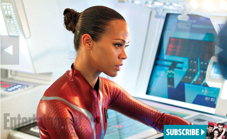 Zoe Saldana as Nyota Uhura in  STAR TREK INTO DARKNESS