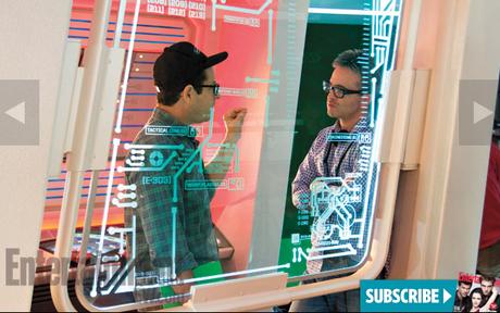 Director JJ Abrams and co-writer/producer Alex Kurtzman on the set of STAR TREK INTO DARKNESS