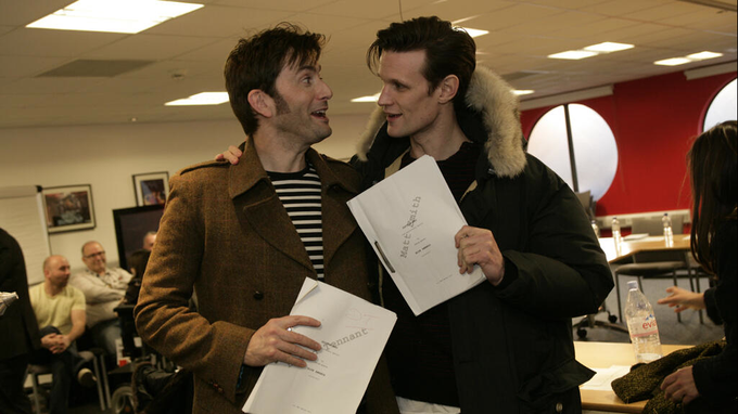 Matt Smith David Tennant Doctor Who 50th Anniv episode readthrough.
