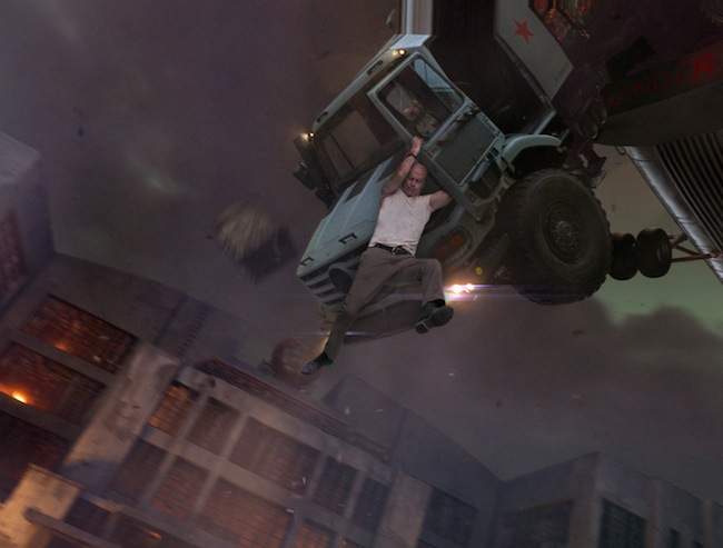 Bruce Willis in action in A GOOD DAY TO DIE HARD
