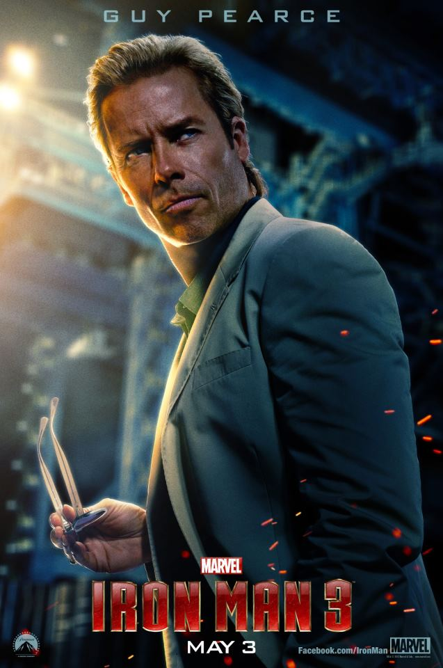 Guy Pearce as Aldrich Killian in IRON MAN 3 Character Poster