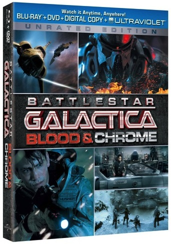 BATTLESTAR GALACTICA: BLOOD & CHROME Blu-ray Box Art