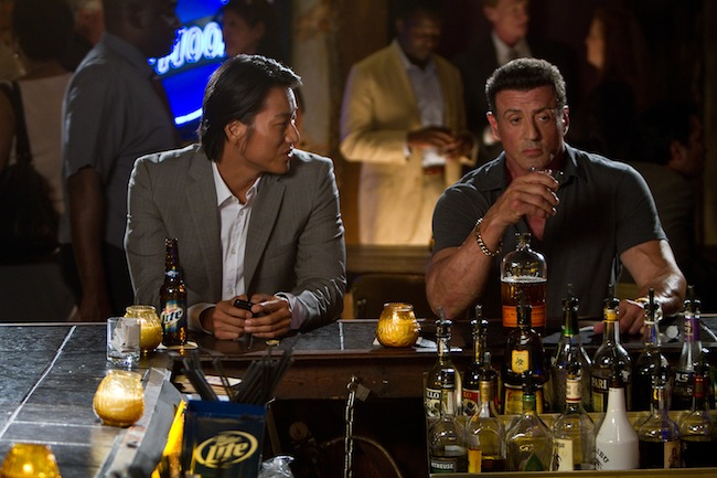 Sylvester Stallone and Sung Kang in BULLET TO THE HEAD