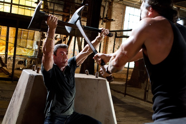 Sylvester Stallone fights Jason Momoa in BULLET TO THE HEAD