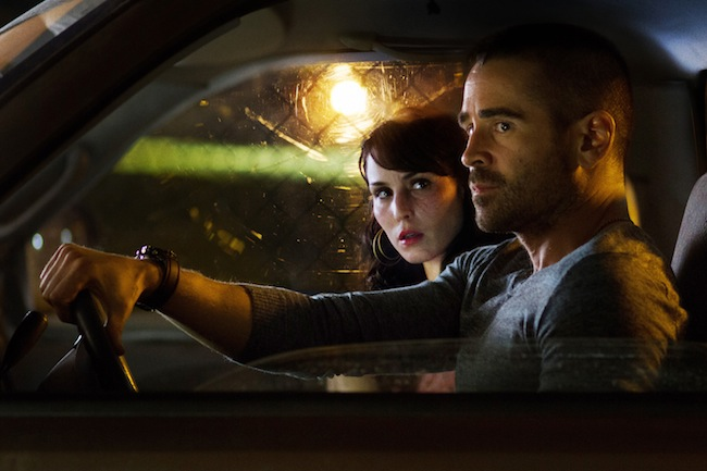 Noomi Rapace and Colin Farrell in DEAD MAN DOWN