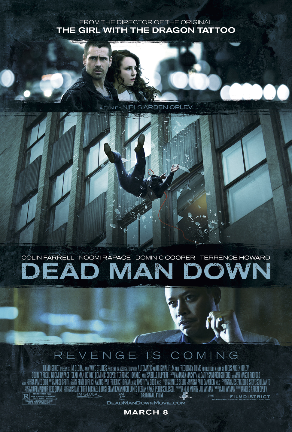DEAD MAN DOWN Final Theatrical One Sheet