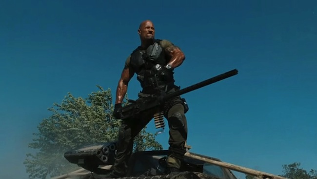 "Dwayne ""The Rock"" Johnson as Roadblock in G.I. JOE: RETALIATION"