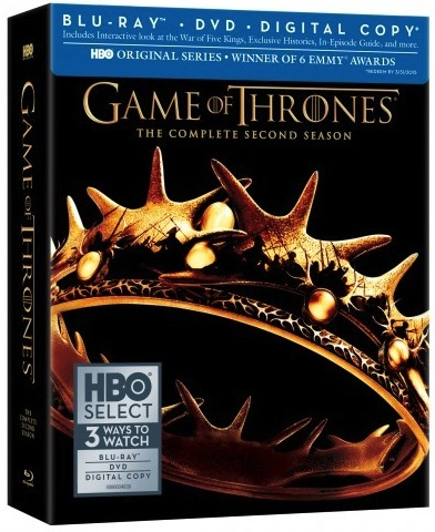 GAME OF THRONES: The Complete Second Season Blu-ray Box Art