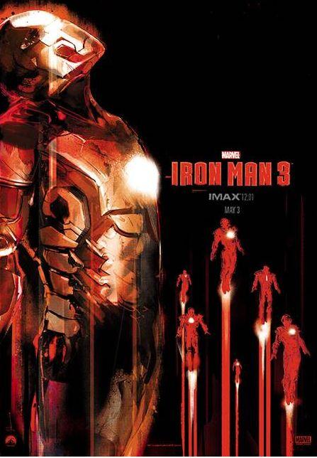 IRON MAN 3 12:01 IMAX Exclusive Mondo Print by Jock
