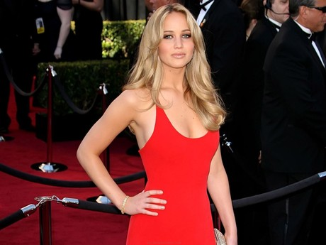 Jennifer Lawrence on the Red Carpet at the Academy Awards