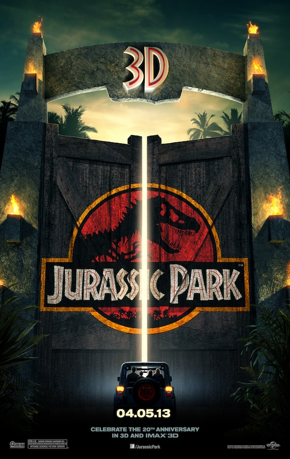 JURASSIC PARK 3D Final Theatrical One Sheet