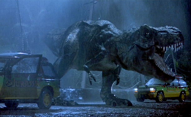 T-Rex introduction in JURASSIC PARK