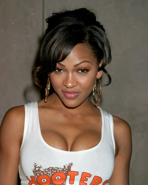 Meagan Good in a Hooters outfit for Halloween