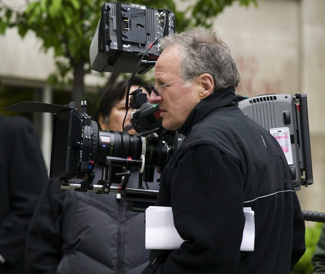 Michael Mann on the set of PUBLIC ENEMIES